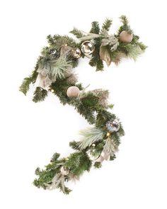 6ft+Bauble+Wreath+Garland