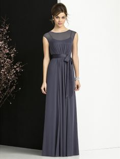 Beautiful simple illusion neckline! After Six Bridesmaid Dresses - Style 6676 #bridesmaid #dresses