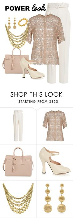 """""""Power Look"""" by empath-eye ❤ liked on Polyvore featuring Emilia Wickstead, Valentino, Yves Saint Laurent, Gucci and Marco Bicego"""