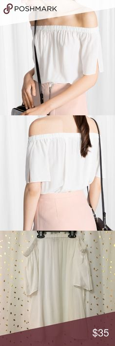 & other stories Flowy Off Shoulder Top Worn only once, in like new condition, worn off the shoulders. Bundle offers welcome. & other stories Tops