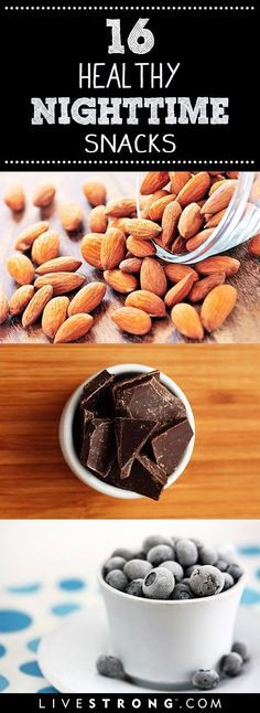 16 Snacks That Are OK to Eat at Night by livestrong: Eating past 8.p.m. has been known to get a bad rap... #Snacks #Bedtime #Healthy