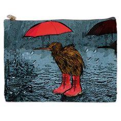Kiwi Kiwi In the Rain Travel Bag Travel Accessory by NirvanaRoad, $18.00