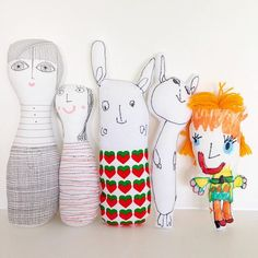 Dolls I made with and for my daughter - similar projects can be found in my Creative Craft With Kids book by Pavilion