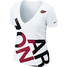 Nike Arizona Cardinals Women's Off-Kilter Tri-blend T-Shirt .  Now at www.NFLShop.com