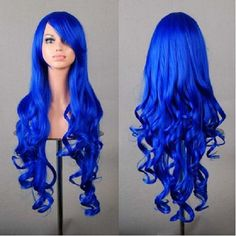 "32"" Long Blue Wig, Wigs for Women, Cheap Costume Wigs, Katy Perry Blue Wig ~$24.95 and FREE SHIPPING!!"