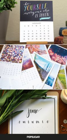 20 Free Printable 2015 Calendars to Ring in the New Year These are all fantastic! Thank you to the ladies who created them. I am now covered for the year! Free Printable Calendar, Printable Planner, Free Printables, Parfait, Weekly Planner, 2015 Planner, College Planner, College Tips, Blog Planner