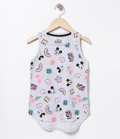 Blusa infantil  Sem manga  Gola redonda  Estampada  Marca: Minnie  Tecido: algodão  Composição: 100% algodão        COLEÇÃO VERÃO 2017     Veja outras opções de    produtos Minnie.