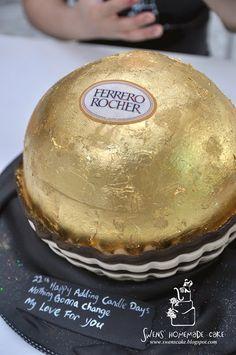 Ferrero Rocher 3d cake Unique Cakes, Creative Cakes, Cupcakes, Cupcake Cakes, Ferrero Rocher, Occasion Cakes, Cakes And More, Cake Art, Let Them Eat Cake