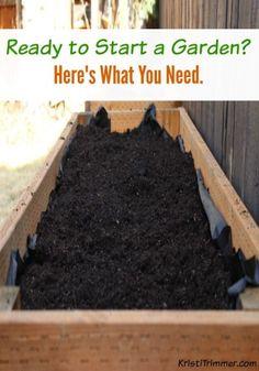 Ready to Start a Garden? Here\'s What You Need. #gardening #gardeningtips