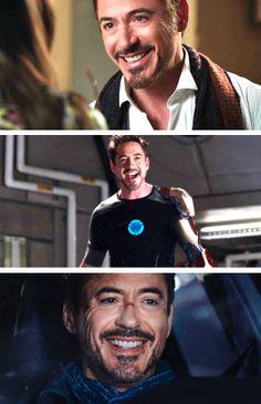 """Tony's smile (""""Iron Man 3"""")"""