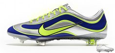 Buy Nike Mercurial Vapor XV Limited Edition 1998 Mercurial Silver Blue Yellow Soccer Shoes On Sale Latest Football Boots, Cheap Football Boots, Football Shoes, Nike Football, Ronaldo Football, Adidas Soccer Shoes, Soccer Boots, Nike Soccer, Sports Shoes