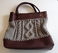 Ravelry: 217 Cable Knit Bag by Bergère de France