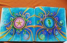 #antistresoveomalovanky #antistresscoloringbook #colorindolivrostop #coloringbook #johannabasford #lostocean #mondeluz #progress ☺