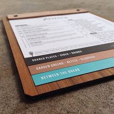nice menus for those that don't want to look up at a menu board