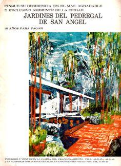 Publicidad de los Jardines del Pedregal, DF, México 1963 -  Advertisement for the Gardens of Pedregal, DF, Mexico 1963