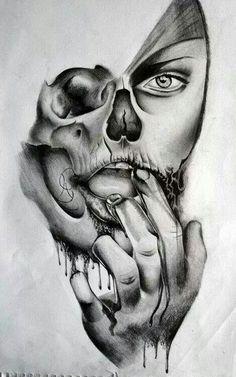 Skull Girl Tattoo, Medusa Tattoo, Skull Tattoos, Body Art Tattoos, Sleeve Tattoos, Tatoos, Lion Tattoo Design, Tattoo Design Drawings, Tattoo Sketches