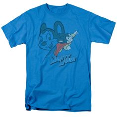 Mighty Mouse Cartoon Mighty Hero Lightning Bolt /& Stars Tee Shirt S-3XL