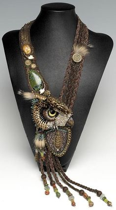 This beaded necklace is called Shape Shifter by the very talented Heidi Kummli