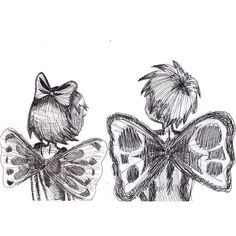 Taking Off Together black and white ink sketch print boy and girl... ($19) ❤ liked on Polyvore featuring home, home decor, wall art, fillers, doodles, drawings, art, drawing, quotes and scribble