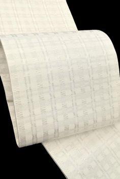 【龍村美術織物】 特選西陣袋帯 全通柄 「銀吉野(ぎんよしの)」 (帯芯付き) ☆シンプルなデザイン!|京都きもの市場