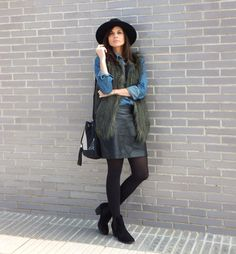In Front Row Style: my new bucket bag, fur vest and fedora hat