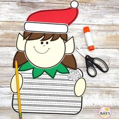 This elf craft and writing activity is so much fun for students in Kindergarten, First and Second grades. Children will enjoy cutting and pasting the boy or girl craft and then completing a name or writing activity. Kindergarten Crafts, Kindergarten Classroom, Girl Elf, Boy Or Girl, Writing Activities, Teaching Resources, First Grade Crafts, Girl Craft, Name Practice