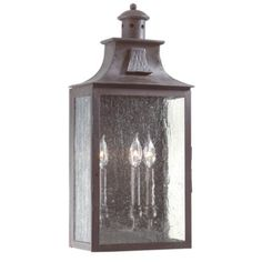 Troy Lighting Newton 3 Light Outdoor Wall Sconce with Seedy Glass Old Bronze Outdoor Lighting Wall Sconces Outdoor Wall Sconces Wall Lights, Wall Sconces, Lighting Collections, Wall Mount Lantern, Outdoor Wall Sconce, Wall, Outdoor Walls, Lights, Troy Lighting