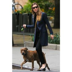 City Style: Jessica Biel and her Pitbull Tina. #style #fashion #dogwalking