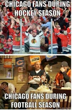 Chicago fans. Black hawks