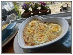 Oeufs durs gratinés et sa fondue de poireaux version avec Thermomix Macaroni And Cheese, Ethnic Recipes, Food, Strawberry Soup, Mint, Hard Boil Eggs, Gratin, Thermomix, Eten