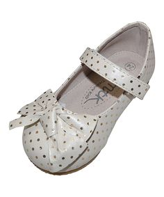 Look at this Cream & Gold Emily Flat on #zulily today!