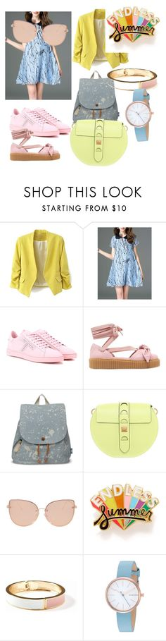 """""""цвета одной насыщенности"""" by styba on Polyvore featuring Tod's, Puma, TOMS, Coccinelle, Topshop, ban.do, Old Navy and Skagen"""