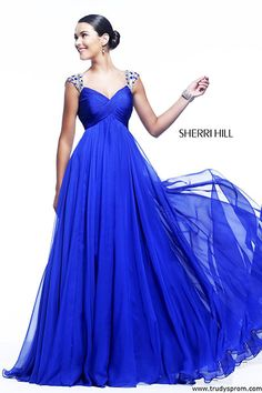 Bright blue prom dress (front)