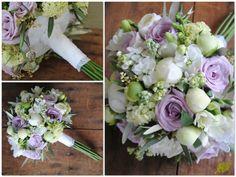 Ramo Novia Peonia Blanca y rosas lilas Mayula Flores