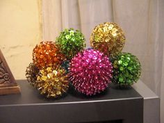 Sequin Balls   •  Free tutorial with pictures on how to make a bauble in under 90 minutes