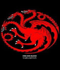 Camiseta chica Juego de Tronos. Escudo casa Targaryen