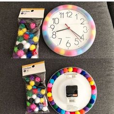 brighten up your classroom by creating this easy DIY colorful clock! Classroom Clock, Classroom Setup, Classroom Design, Preschool Classroom, Future Classroom, Classroom Organization, Chalkboard Classroom, Preschool Decor, Kindergarten Math