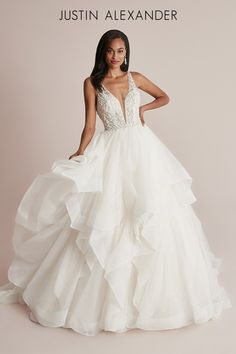 Perfect Wedding Dress, Dream Wedding Dresses, Wedding Gowns, Tulle Ball Gown, Ball Gowns, Bridal Collection, Dress Collection, Wedding Gown Gallery, Trumpet Gown