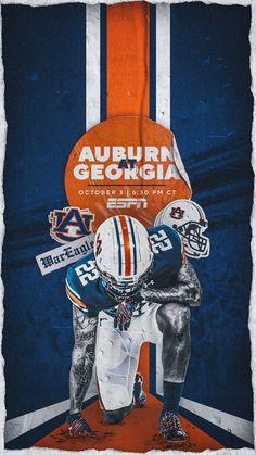 Auburn Football, Auburn Tigers, Football Stuff, College Football Recruiting, Sports Graphic Design, Sports Graphics, Naruto Wallpaper, Visual Communication, Cheer