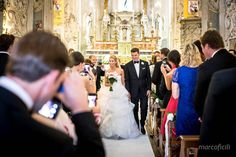 Bride and groom on the San Giuseppe church in Taormina, Sicily. Get married in Italy. Marco Ficili photographer.