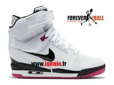 huge selection of 69371 793fa Nike Air Revolution Sky Hi GS - Chaussure Montante Nike Pas Cher Pour Femme  Bleu Blanc 599410-403
