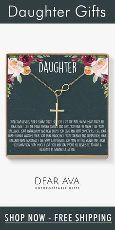 The love between you and your Daughter is forever. Show your love for Daughter with this beautiful infinity cross design symbolizing the connection between you. This elegant piece is designed to shine and make her feel like the princess she really is. Mothers Quotes To Children, Mother Daughter Quotes, I Love My Daughter, Father Daughter Dance, My Beautiful Daughter, Mothers Day Quotes, Child Quotes, Son Quotes, Family Quotes