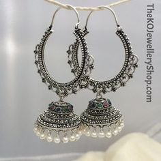 Jewellery Land save Gem & Jewellery Exchange Dealers Association near Jewellery Shops In Near Me under Jewellery Box Size Guide Indian Jewelry Earrings, Jewelry Design Earrings, Silver Jewellery Indian, Ear Jewelry, Jewelery, Jewellery Box, Jewellery Shops, Jhumkas Earrings, Silver Earrings