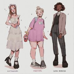 Cute Art Styles, Cartoon Art Styles, Fashion Design Drawings, Fashion Sketches, Anime Outfits, Cute Outfits, Mode Kawaii, Drawing Anime Clothes, Girl Drawing Sketches