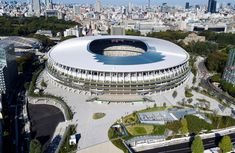 National Stadium, Kengo Kuma, Tokyo 2020, Art And Architecture, Marina Bay Sands, Mansions, House Styles, Gallery, Building
