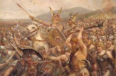 GEBEURTENIS De expansie van het Romeinse rijk stopte na de slag bij het Teutoburgerwoud. Er sneuvelden wel 18.000 Romeinen. De romeinen besloten dat het rijk zo groot genoeg was.