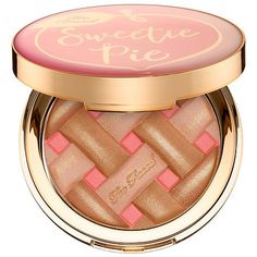 """TOO FACED Sweetie Pie Radiant Matte Bronzer – Peaches and Cream Collection """"I love this! It gives my skin such a beautiful sun kissed glow. I use it to add a little color all over my face, sometimes building it up on my cheeks as blush, too."""" -M00neyes"""