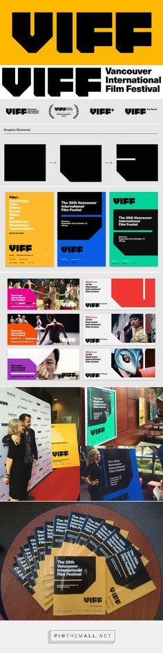 Brand New: New Logo and Identity for Vancouver International Film Festival by… Event Branding, Corporate Identity, Visual Identity, Brand Identity Design, Branding Design, Logo Design, Festival Logo, Film Festival, Project Purple