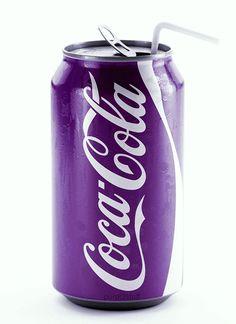 Purple Coca-cola - dad would be proud Purple Love, Purple Rain, All Things Purple, Purple Lilac, Shades Of Purple, Deep Purple, Purple Stuff, Color Make, Color Lila