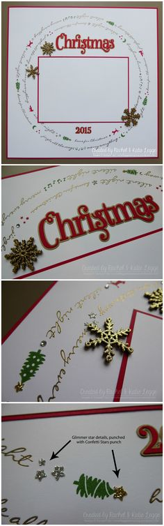 Stampin' Up! Jingle All the Way Christmas Scrapbook Layout Collage | Created by Rachel and Katie Legge, inspired by Rachel Tessman rachelleggestampinup.wordpress.com #Christmas2015 #StampinUp